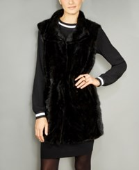 The Fur Vault Mink Vest Black