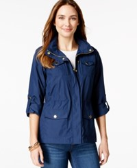 Styleandco. Style And Co. Sport Petite Zip Pocket Hooded Anorak Only At Macy's Ink