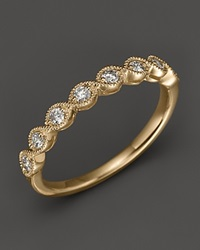 Bloomingdale's Diamond And 14K Yellow Gold Stackable Ring .25 Ct. T.W. No Color