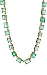 Irene Neuwirth Diamond Collection Women's Colombian Emerald Necklace C Colorless