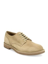 Brunello Cucinelli Suede Lace Up Shoes Stone
