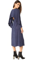 Edit Cape Back Midi Dress Navy