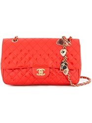 Chanel Vintage Valentine Edition Flap Shoulder Bag Red