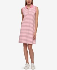Tommy Hilfiger Striped Polo Dress Only At Macy's Pink Stripe