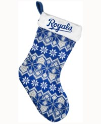 Forever Collectibles Kansas City Royals Ugly Sweater Knit Team Stocking Blue