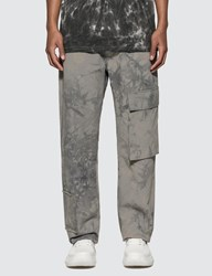Misbhv The Washed Out Tie Dye Cargo Trousers Blue