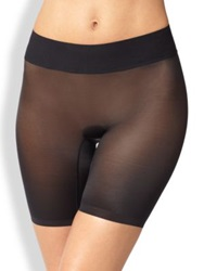 Wolford Sheer Touch Control Shorts Black Rose