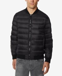 32 Degrees Men's Packable Bomber Jacket Black