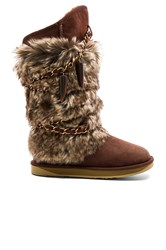 Australia Luxe Collective Atilla Boot With Faux Fur Brown