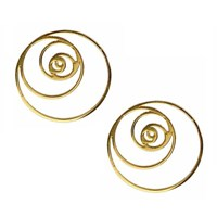 Eina Ahluwalia Fibonacci Spiral Earrings