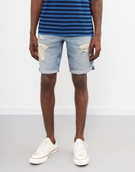 Levi's Red Tab 511 Slim Cut Off Shorts Surfside Blue