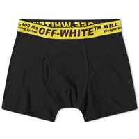 Off White Industrial Band Boxer Short Black