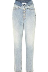 Iro Fasti Belted High Rise Tapered Jeans Light Denim