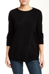 Sofia Cashmere Cross Over Cashmere Sweater Black