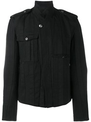 Ann Demeulemeester Button Up Biker Jacket Black