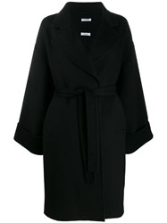 P.A.R.O.S.H. Oversized Belted Coat Black