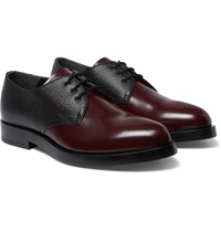Alexander Mcqueen Two Tone Leather Derby Shoes