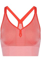 Nike Dri Fit Stretch Jersey Sports Bra Orange