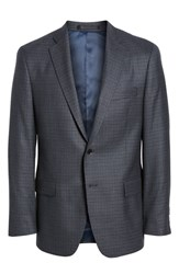 Hart Schaffner Marx Classic Fit Stretch Check Wool Sport Coat Mid Blue