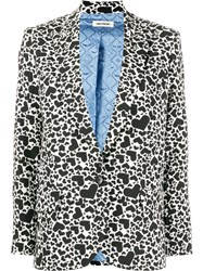 Zadig And Voltaire Heart Print Single Breasted Blazer 60