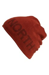 The North Face Men's Reversible Beanie Red Brick House Red Sequoia Red