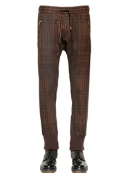 Etro Printed Stretch Wool Canvas Pants