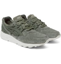 Asics Gel Kayano Suede And Rubber Sneakers Gray Green