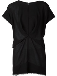 Alexandre Plokhov 'X Pleat' Blouse Black