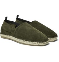 Onia Zach Suede Espadrilles Army Green