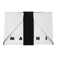 Marni Green And Off White Twin Card Holder