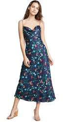 C Meo Collective Sectional Midi Dress Navy Floral