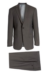 Hart Schaffner Marx 'S New York Classic Fit Stripe Wool Suit Charcoal