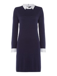 Dickins And Jones Katherine Knitted Shift Dress Navy