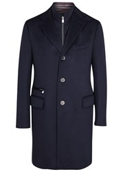 Corneliani Navy Wool Coat