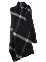 Cedric Charlier Checked Draped Coat Multicolour