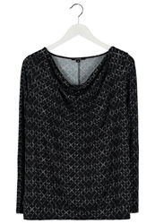 Comma Long Sleeved Top Black
