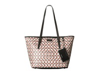Nine West Ava Tote Quarry Black Indian Coral Tote Handbags Yellow