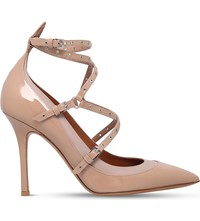 Valentino Lovelatch 100 Patent Leather Courts Beige