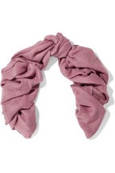 Brunello Cucinelli Woman Fringed Woven Scarf Pink