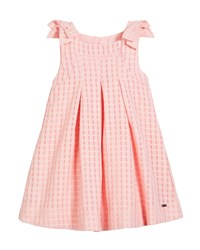 Mayoral Windowpane Box Pleat Dress Size 12 36 Months Red
