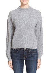 Frame Women's Rib Knit Crop Cashmere Sweater Gris