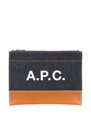 A.P.C. Zipped Logo Clutch Bag 60