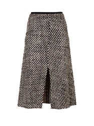 Isabel Marant Inko Tweed Skirt Black White