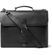 Mulberry Chiltern Pebble Grain Leather Briefcase Black