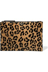 Mcq By Alexander Mcqueen Leopard Print Calf Hair And Leather Clutch Leopard Print