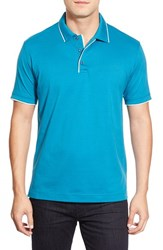Men's Robert Graham 'Marlow' Tipped Jersey Polo