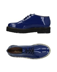 Avril Gau Lace Up Shoes Blue