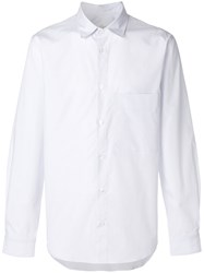 Golden Goose Deluxe Brand Striped Classic Shirt Cotton Xl White