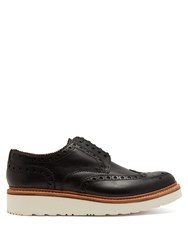 Grenson Archie Raised Sole Leather Oxford Brogues Black