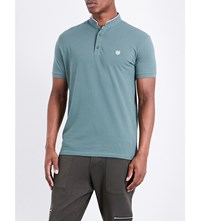 The Kooples Classic Fit Cotton Polo Shirt Grn44